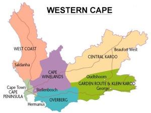 Western Cape Tourism Areas