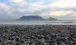 Table Mountain from beach(sss)