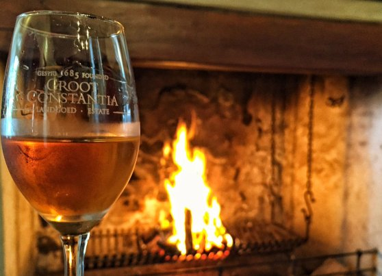 a warm fire paired with Grand Constance Di Brown