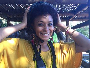 Shamiela gears up to zipline Di Brown