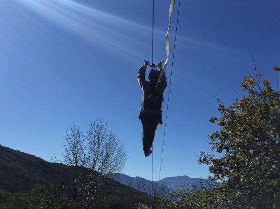 Ziplining at Pikenierskloof Di Brown